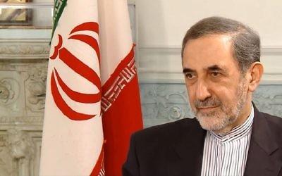 Capture d'écran d'une vidéo d'Ali Akbar Velyati, haut conseiller du chef suprême iranien  Ali Khameni. (Capture d'écran : YouTube)