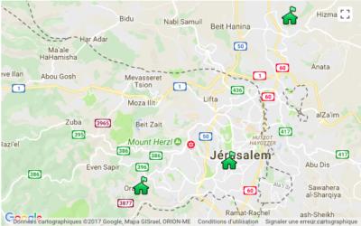 Après la déclaration des Etats-Unis, Israël a annoncé la planification de 6 000 nouvelles constructions à Jérusalem-Est (Image : Google Maps)