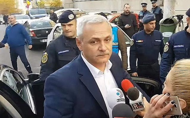 Liviu Dragnea (Crédit : capture d'écran YouTube)