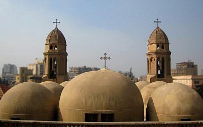 Illustration. Les dômes de l'église copte Saint-Marc au Caire, Égypte (Crédit : CC BY Bakar_88, Flickr)