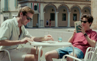 "Armie Hammer et Timothée Chalamet dans ""'Call Me by Your Name"" (Crédit : Courtesy Sony Classics)"