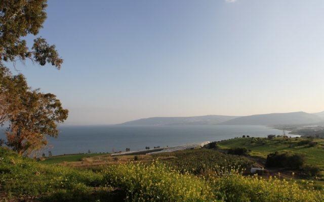 Vue de la mer de Galilée (Crédit : Nati Shohat/Flash90)