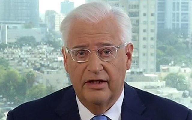 L'ambassadeur américain en Israël David Friedman s'exprime sur Fox News le 7 décembre 2017 (Capture d'écran :  Fox News)