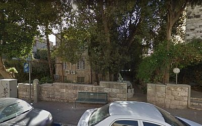 Le bâtiment abritant le consulat guatemaltèque à Jérusalem ( Crédit : TGoogle Street View)