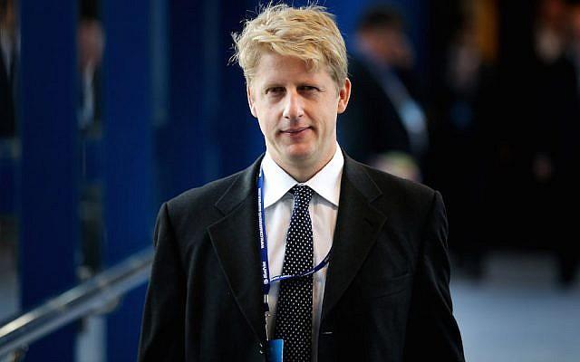 Jo Johnson, conseiller politique du gouvernement et frère du maire de Londres de l'époque, Boris Johnson, assiste à la conférence du parti conservateur le 30 septembre 2014 à Birmingham, en Angleterre (Crédit : Peter Macdiarmid / Getty Images via JTA / Fichier)