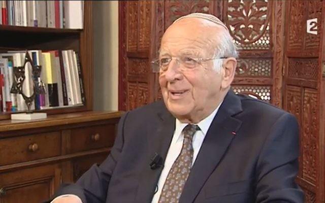 Le grand rabbin Josy Eisenberg, est décédé le 8 décembre 2017 en Normandie. Il est inhumé à Jérusalem (Crédit: capture d'écran Youtube)