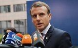 Le Président Emmanuel Macron de la France lors d'une réunion de l'UE à Bruxelles, le 19 octobre 2017 (Crédit : Dan Kitwood / Getty Images via JTA)