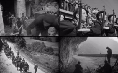 Des ravitaillement en armes par voir aérienne, des marches entre les lieux à défendre, le documentaire retrouvé montre la vie au jour le jour dans le maquis (Crédit: capture d'écran Arte)