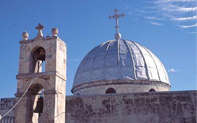 L'église de Saint-Jean-Baptiste a été fondée par l'impératrice byzantine Eudocia au 5ème siècle (Crédit : Shmuel Bar-Am)