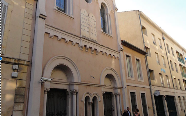 Synagogue de Nîmes, le 1er juin 2012 (Crédit : FLLL/CC-BY-SA-4.0/Wikimédia)