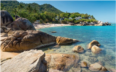 Une plage de l'île Koh Samui en Thaïlande. (Tupikov/iStock/Getty Images)