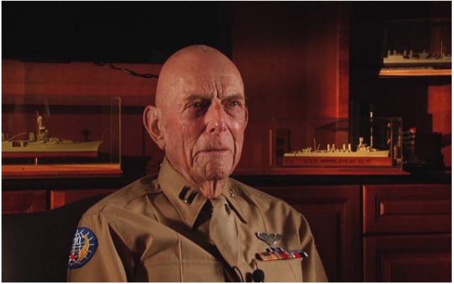 Le vétéran Jerry Yellin, apparaît dans cette capture d'écran de la vidéo World War Two. (YouTube)