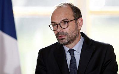 Edouard Philippe, le 3 janvier 2018. (Crédit : AFP / POOL / BENOIT TESSIER)