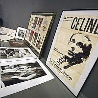 Des affiches et des photos du romancier français Louis-Ferdinand Céline, le 17 juin 2011 (Crédit : AFP PHOTO / LIONEL BONAVENTURE)