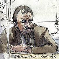 (Archives) Le ressortissant allemand Christian Ganczarski, comparait à Paris en 2005 pour l'attentat de la synagogue de Djerba, qui avait fait 21 morts. (Crédit : AFP / BENOIT PEYRUCQ)