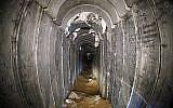 Un tunnel détruit du Jihad islamique palestinien, menant de Gaza à Israël, près du kibboutz israélien de Kissufim (Jack Guez / AFP / POOL)
