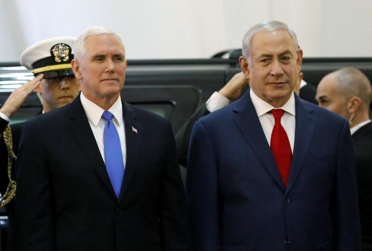 Aux c t s de pence netanyahu s 39 interroge sur la position de l 39 ue sur l 39 iran the times of isra l - Bureau president americain ...