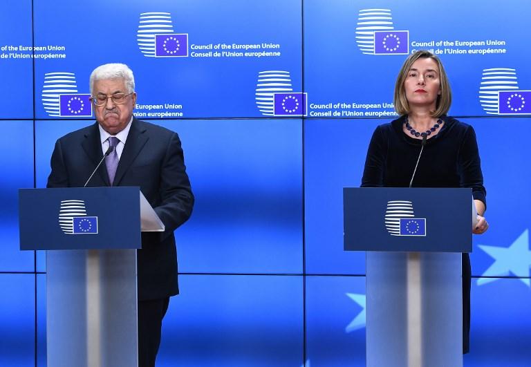 Abbas compte sur l'UE — Etat de Palestine