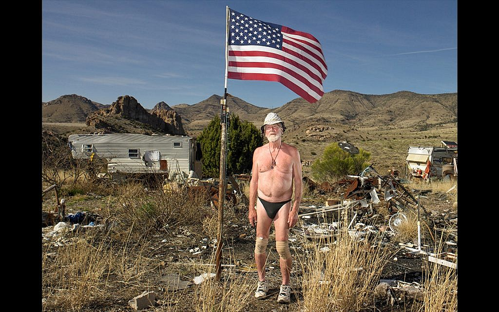 Le vétéran du Vietnam Richard Toll Ward,  dans l'Arizona. A voté Hillary Clinton. Le 9 mars 2017 (Crédit : Naomi Harris)