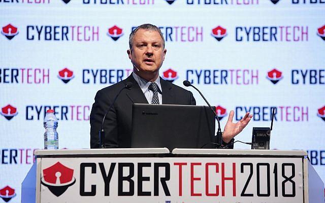 Erel Margalit, entrepreneur dans le secteur des hautes technologies et ancien membre de la Knesset, lors de la conférence Cybertech 2018, à Tel Aviv, le 31 janvier 2018 (photo de Dror Sithakol)