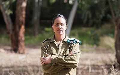 La lieutenante-colonelle Reut Rettig-Weiss, commandante de l'unité du corps d'artillerie et première commandante femme de bataillon de combat de l'armée