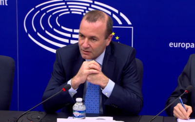 Manfred Weber (Crédit : capture d'écran YouTube)