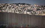 La ville d'Abu Dis en Cisjordanie, à la périphérie de Jérusalem (Miriam Alster / Flash90)