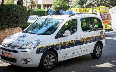 Photo d'illustration d'un véhicule de la police israélienne, le 4 août 2017 (Roy Alima / Flash90)