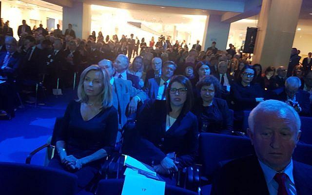 Les participants à la commémoration de la Shoah, au Parlement européen, le 24 janvier 2018. (Autorisation)
