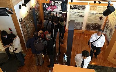 A Yaotsu, au Japon, au mois de novembre 2017 , au musée du mémorial Chiune Sugihara (Amanda Borschel-Dan/Times of Israel))