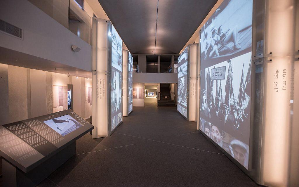 L'exposition recrée l'atmosphère d'une rue de Varsovie (Crédit: Musée des combattants du ghetto)
