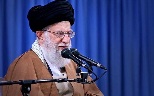 L'ayatollah Ali Khamenei, le 28 décembre 2017. (Crédit : capture d'écran YouTube)