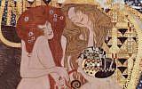 Une section de la frise de Beethoven, par Gustav Klimt. (Crédit : Domaine public/Wikimedia Commons)