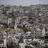 Vue du quartier arabe de Silwan, à Jérusalem-Est, le 27 mai 2015. (Crédit : Nati Shohat / Flash90)