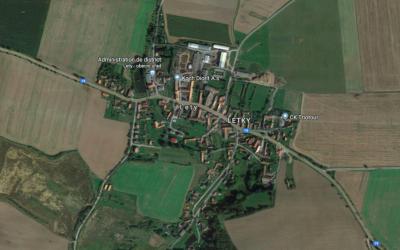 Lety, dans le sud-ouest de la République tchèque (Photo : Google Maps)