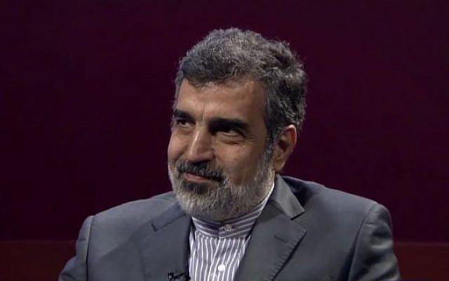 Le porte-parole de l'Agence iranienne de l'énergie atomique (AEOI) Behrouz Kamalvandi (Crédit : PressTV News Videos)