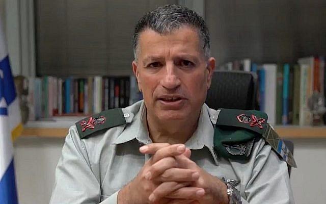 Le coordinateur des activités gouvernementales dans les territoires du gouvernement, le général de division  Yoav Mordechai. (Capture d'écran)