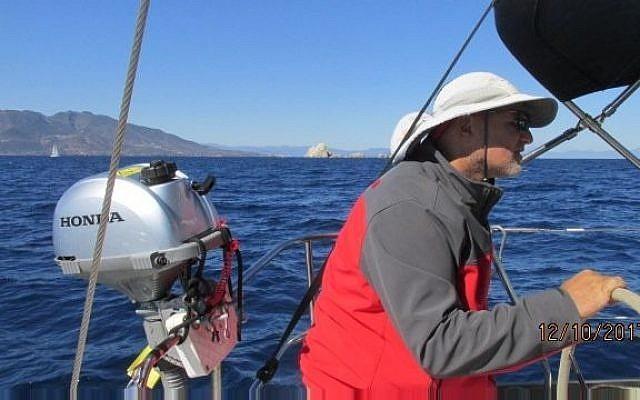 Ori Lahav, le cofondateur d'Outbrain, organise une fois par an un voyage pour faire de la voile pour les entrepreneurs technologiques (Crédit : Autorisation)