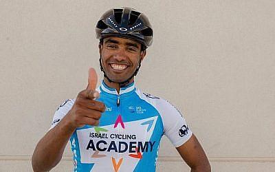 L'Israel Cycling Academy a signé Awet Gebremedhin, un réfugié érythréen de 25 ans vivant actuellement en Suède, le 8 janvier 2018. (courtesy Israel Cycling Academy)