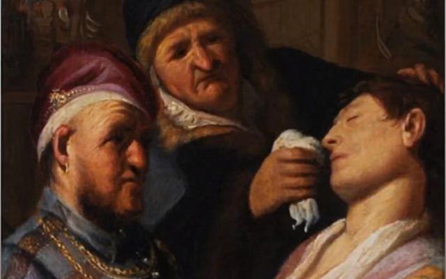 """Le détail d'une peinture appartenant à la famille Landau du  New Jersey qui s'est avérée être un Rembrandt, acquis par un client au prix de 1,1 million de dollars  (Capture d'écran de """"Strange Inheritance"""", diffusé le 15 janvier 2018 sur la chaîne Fox Business Network)"""