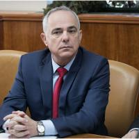 Le ministre de l'Energie Yuval Steinitz, lors de la réunion hebdomadaire des ministres  dans les bureaux du Premier ministre à Jérusalem,le 29 octobre 2017. (Ohad Zwigenberg/Flash90)