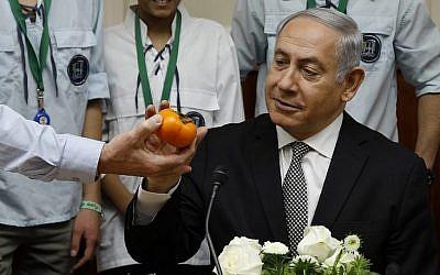 Le Premier ministre Benjamin Netanyahu à l'ouverture de la réunion hebdomadaire de son cabinet, à son bureau de Jérusalem, le 25 février 2018 (AFP PHOTO / GALI TIBBON)