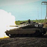 La 188e Brigade blindée de Tsahal participe à un vaste exercice dans le nord d'Israël destiné à simuler une guerre au Liban, février 2018 (Forces de défense israéliennes)