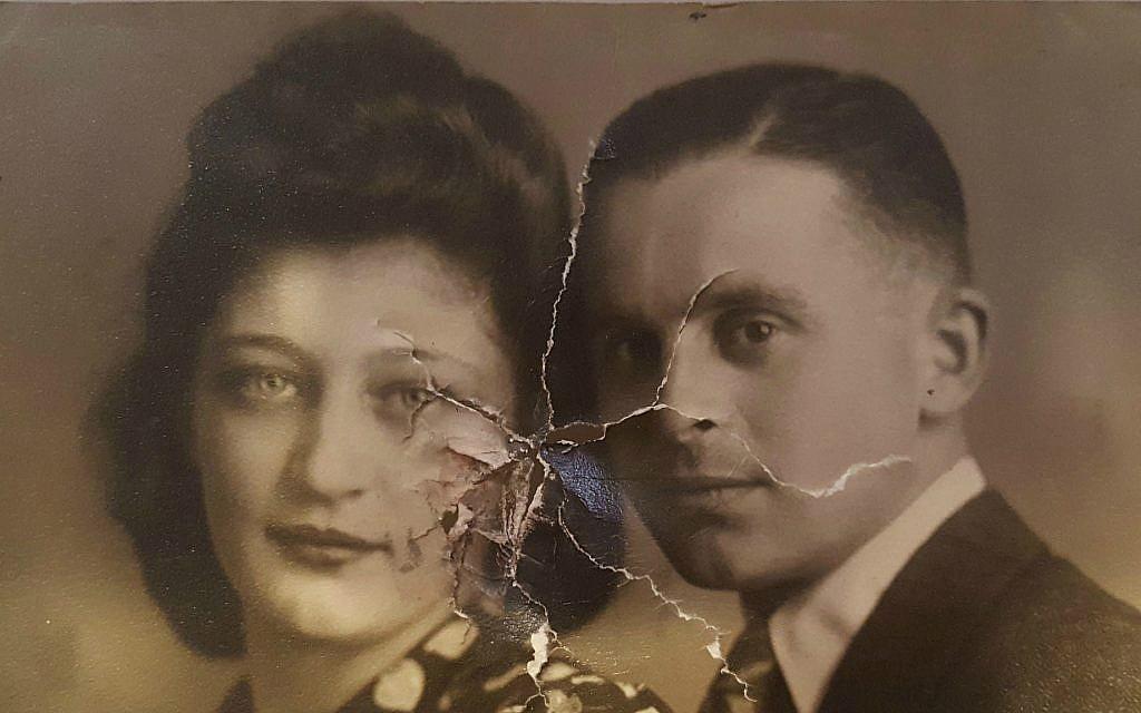 Une photo de Nathan van Dam et de sa fiancée Esther Israel dans la Hollande occupée par les nazis en 1942. Retrouvée dans le portefeuille de  Nathan van Dam qui avait été restitué (Autorisation : 'Martine van Dam)