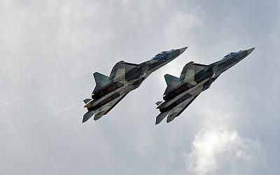 Des avions Su-57. (Crédit : Anna Zvereva, CC BY-SA 2.0, Flickr)