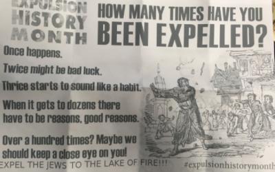 Le courrier haineux antisémite reçu par le Centre communautaire juif de Windsor, Ontario, Canada, le vendredi 16 février 2018. (Crédit : Autorisation Bnai Brith Canada)