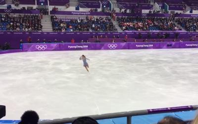Nicole Schotte en épreuve de patinage artistiques aux Jeux Olympiques de Pyeong-Chang (Capture d'écran : YouTube)
