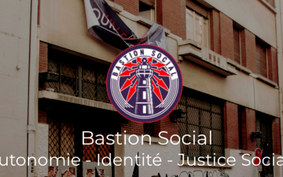 Capture d'écran du site internet du mouvement d'extrême droite Bastion social