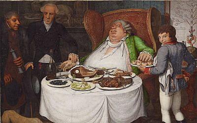 Le tableau de 1804, «Der Voller» ou «The Full One» de George Emmanuel Opitz. (Domaine public)