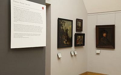 Nouvelle salle du Louvre dédiée aux oeuvres classées MNR (Crédit: Musée du Louvre)